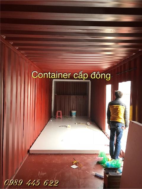 thi công làm vỏ container lạnh