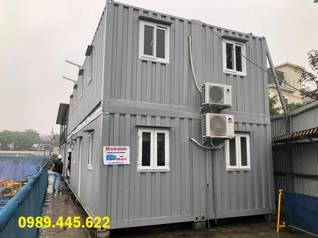 container văn phòng ghép hai tầng
