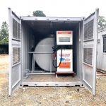 Container chứa bồn bơm dầu