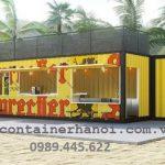 Container làm quán cafe