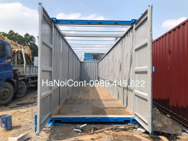 trong container mở nóc 50 feet